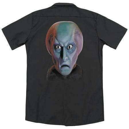 Star Trek Balok Head (Back Print) Mens Work (Star Trek Balok Head)