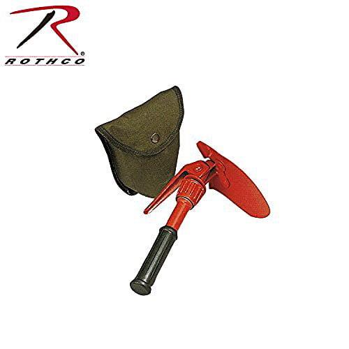 Rothco Orange Mini Pick & Shovel with Canvas Sheath
