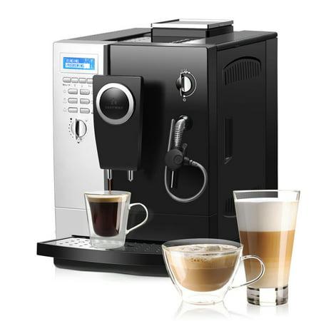 Costway Super-Automatic Espresso Machine Cappuccino Latte Maker 19 Bar w/ Milk