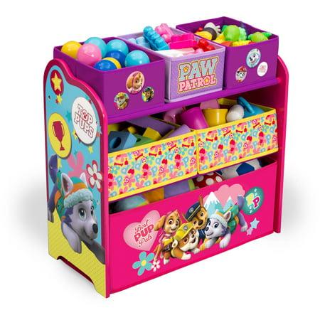 Delta Children Nick Jr Paw Patrol Skye And Everest Multi Bin Toy Organizer
