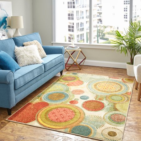 Mohawk Home Motion Printed Area Rug (Green Mohawk)