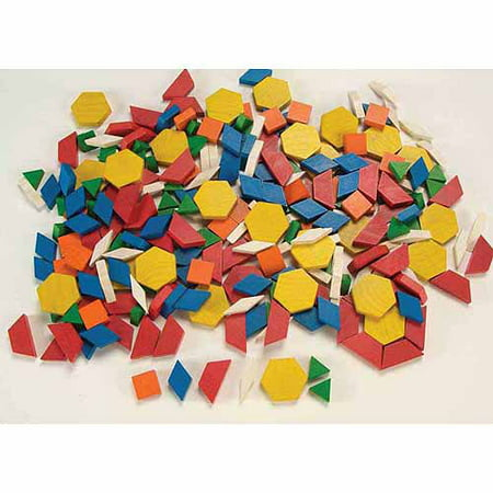 School Smart Wooden Pattern Blocks, - Pattern Blocks
