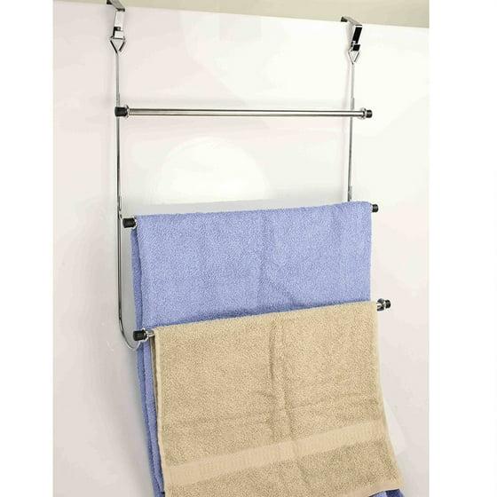 Average Height Of Towel Bar In Bathroom: Home Basics 3 Tier Over The Door Bathroom Towel Rack