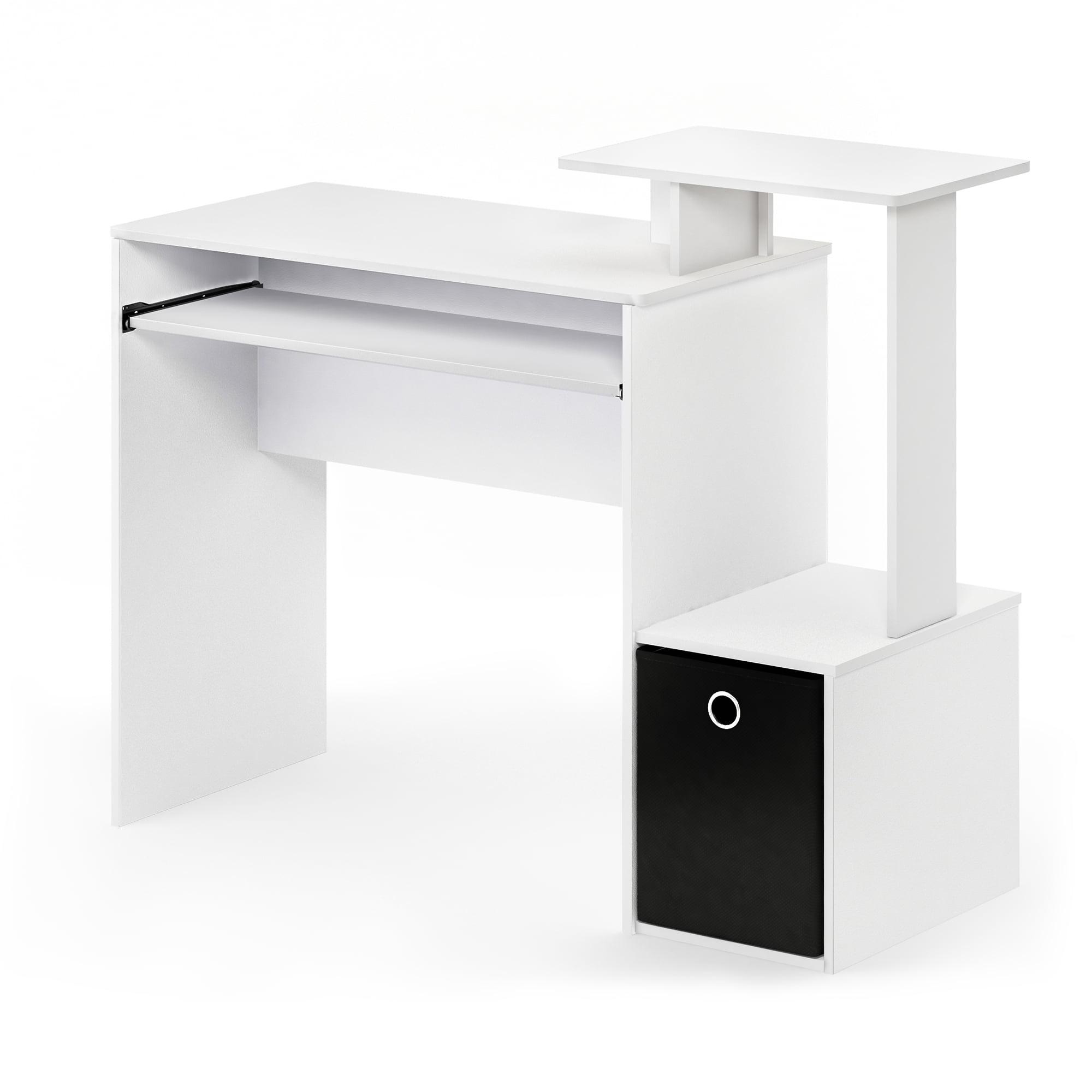 Furinno Econ Multipurpose Home Office Computer Writing Desk W Bin White Black Walmart Com Walmart Com