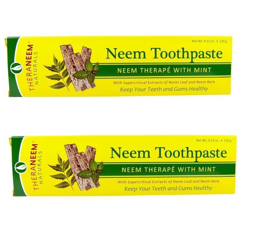 Organix South - TheraNeem Naturals, Neem Therapé with Mint, Neem Toothpaste, 4.23 oz (120 g) - 2 Packs