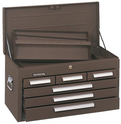 "26"" 6-DRAWER MECHANICS'CHEST W/TOTE TRAY"