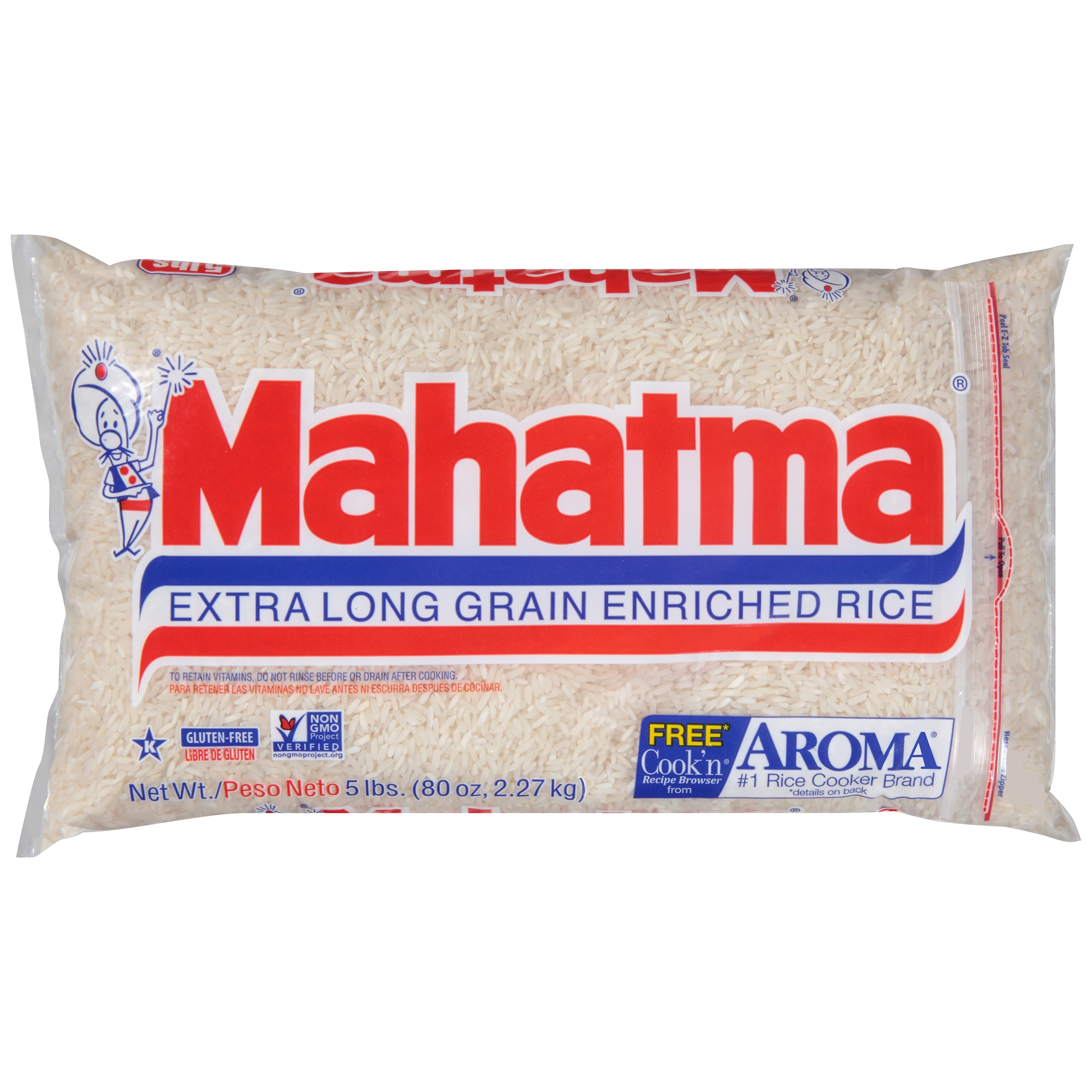 Mahatma® Extra Long Grain Enriched Rice 80 oz. Bag