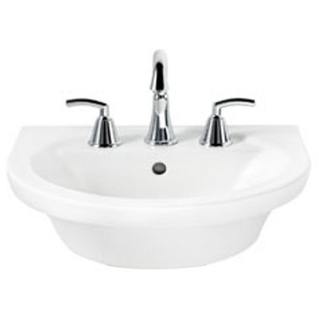 American Standard 0403.008.020 Tropic Petite Above Counter or Drop Lavatory Sink with Three Faucet Holes (8 Centers), Available in Various Colors