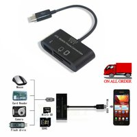 High speed data transfer rate Portable USB Card Reader Multi-port, Compatible With SD/TF/SDHC Memory Cards For Android Cellphone And Camera Support OTG