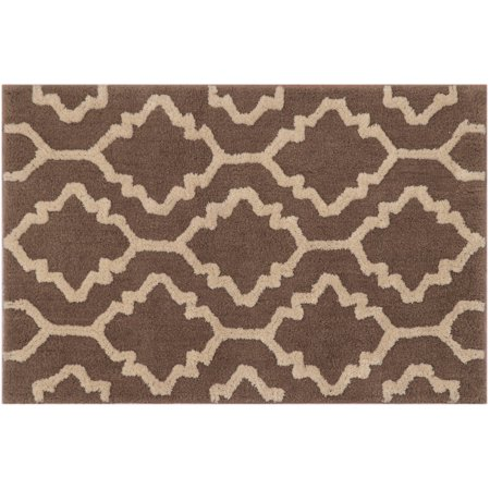 Better Homes and Gardens Geo Shag Polyester Rug, Taupe