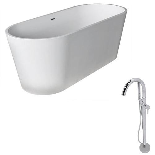 ANZZI Rossetto 66.8'' x 27.75'' Freestanding Soaking Bathtub by