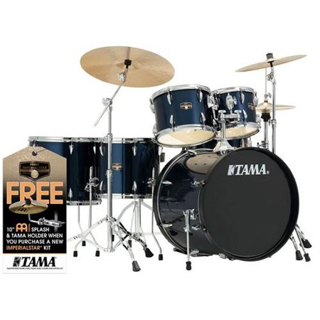 tama imperialstar 6 piece complete drum set with meinl hcs cymbals free promo cymbal pack. Black Bedroom Furniture Sets. Home Design Ideas