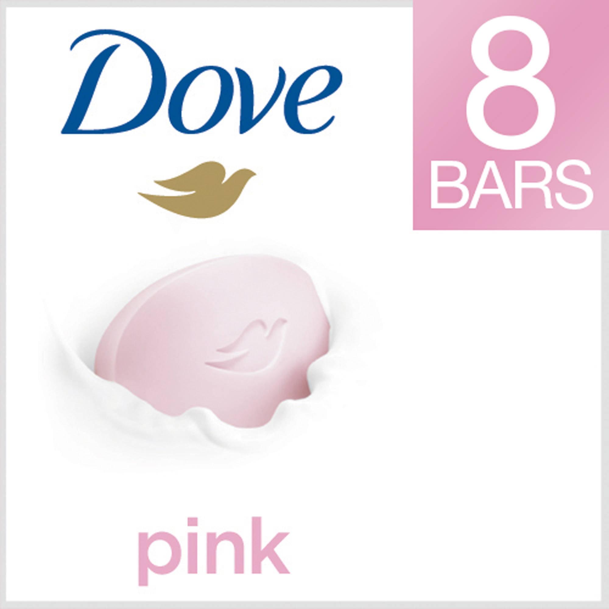 Dove Pink Beauty Bar, 4 oz, 8 Count - Walmart.com