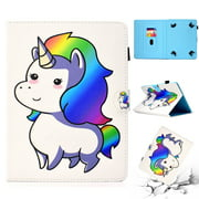 """Universal 6- 7 Inch Tablet Caes, Allytech Stand Folio Wallet Case Cover for Kindle Paperwhite 2018 2016, RCA Voyager 7"""", Samsung Galaxy Tab A 7.0/ Tab E Lite/ Tab 3 T280 T110, iView, Colorful Unicorn"""