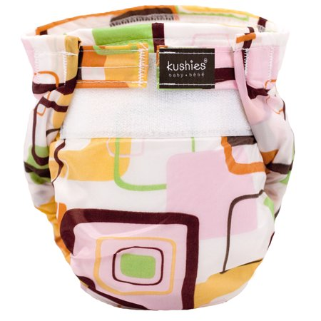 Kushies Ultra-Lite Diaper Toddler Pink Groovey Squares - image 2 of 2