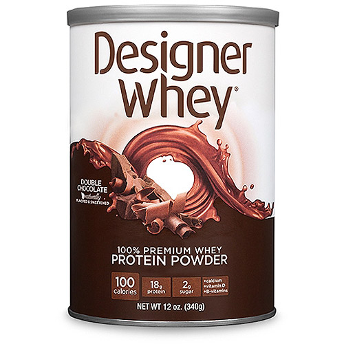 Designer Whey Double Chocolate Protein Powder, 12.7 oz
