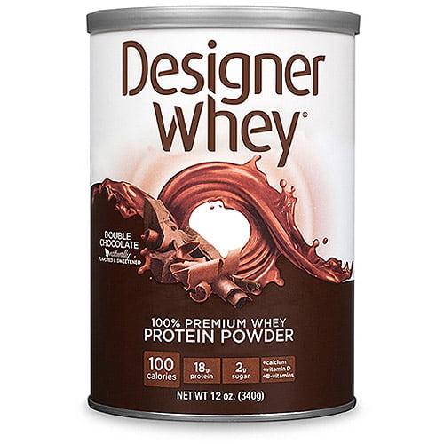 Designer Whey Double Chocolate Protein Powder, 12.7 oz