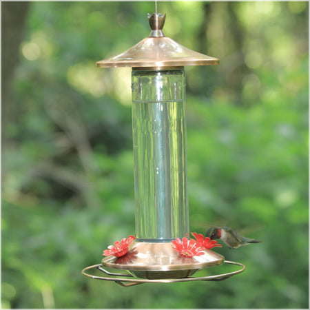 shop the best copper hummingbird humming find bird deals feeder on stake