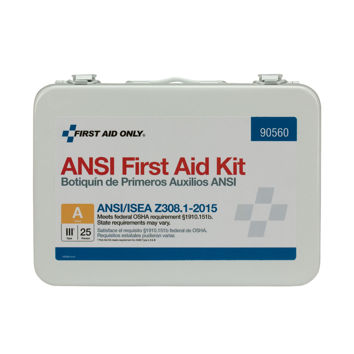 First Aid Only 25 Person ANSI A First Aid Kit, Metal, 89 Pc