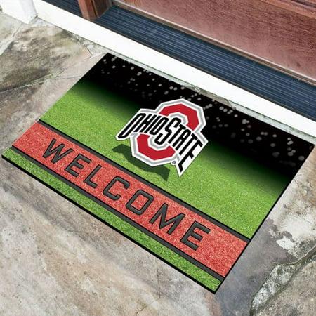 NCAA Ohio State Buckeyes Crumb Rubber Door Mat 18u0022x30u0022