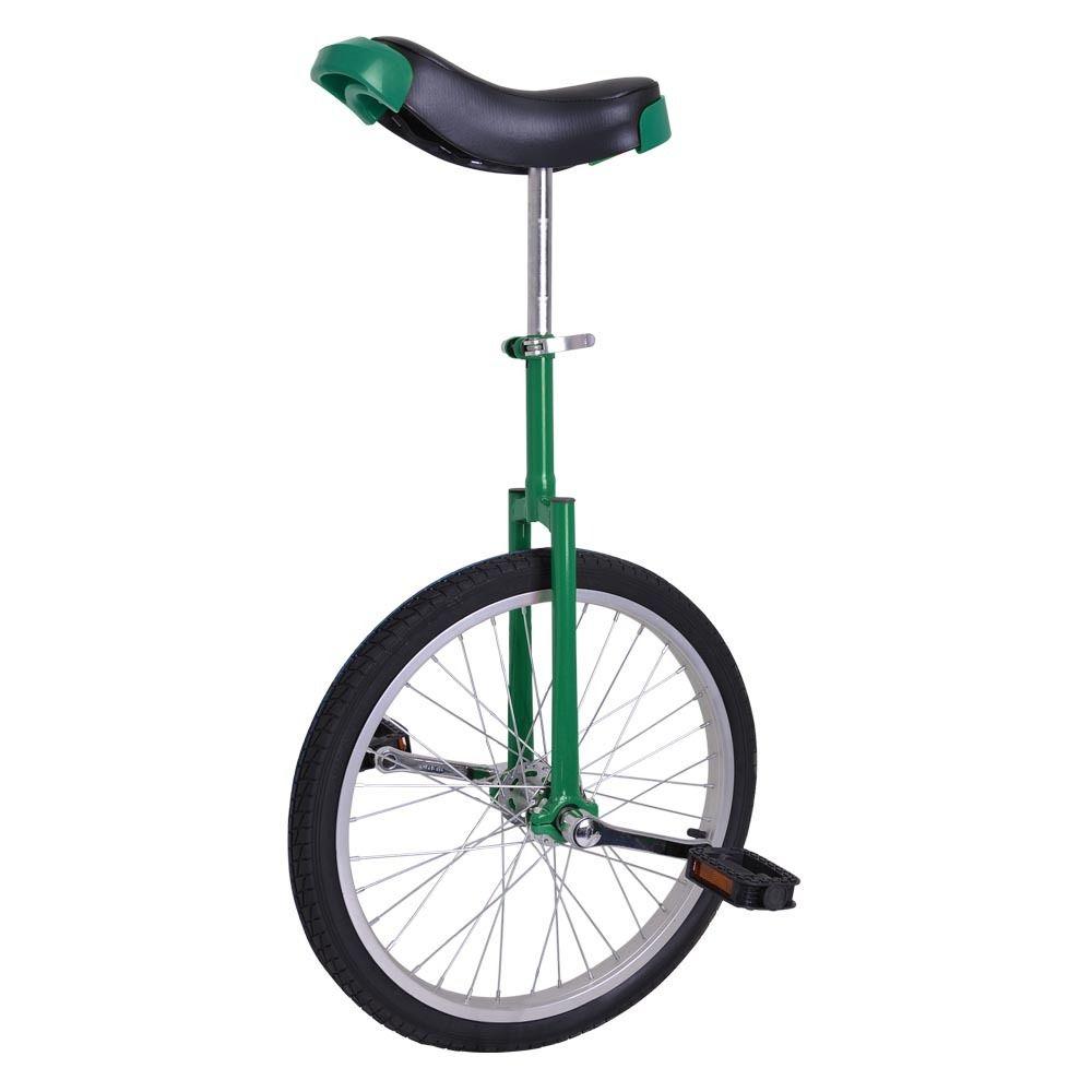 "GHP Green Manganese Steel 20"" Wheel Skid-Proof Tire Alloy Aluminum Rim Unicycle"