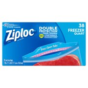 Ziploc Freezer Bags, 1 Quart, 38 ct