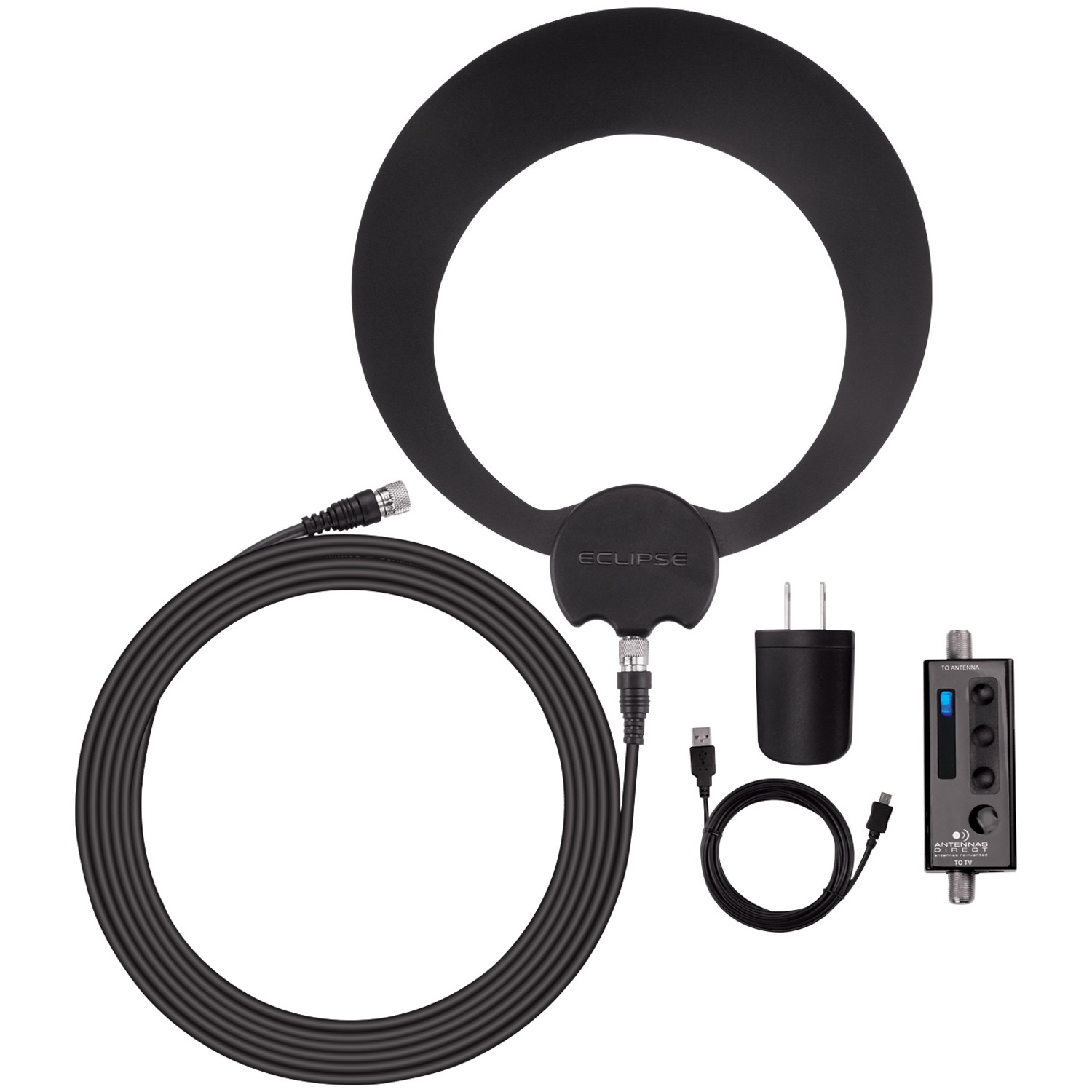 Antennas Direct ECL-A ClearStream Eclipse Amplified Sure Grip Indoor HDTV Antenna