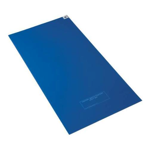 "Condor WM-2645B 26 x 45"" Blue Polyethylene Film Disposable Tacky Mat"