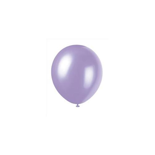 Unique Industries 5157 10 count 12 inch Pearl Balloons in Dusty Lavender - 144 Packs