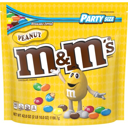 M&M's, Peanut Milk Chocolate Candy, Party Size, 42 Ounce