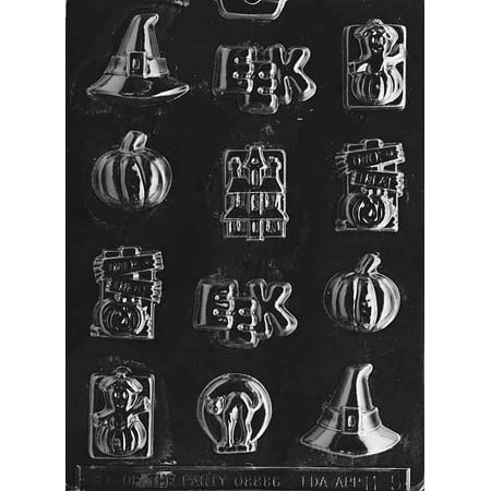 Halloween Assortment Hat Pumpkin Trick or Treat Chocolate Mold Mould Candy Soap Party Favor M51