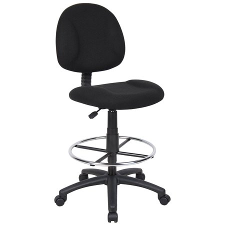 boss office products b1615 bk ergonomic works drafting chair without