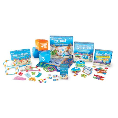 Learning Resources Kid Learning Kit - Theme/subject: Learning - Skill Learning: Word Problems, Geometry, Measurement, Problem Solving, Addition, Shape - 6 Pieces - 6+ (ler1775)