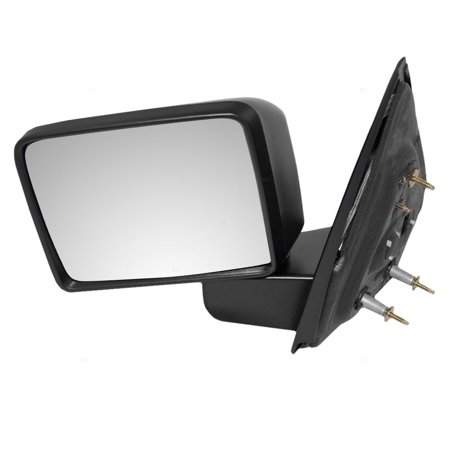Drivers Manual Side View Mirror Textured Square Head Design Replacement for 2004-2008 Ford F150 Pickup Truck 8L3Z17683DB 03 Ford F150 Pickup Mirror