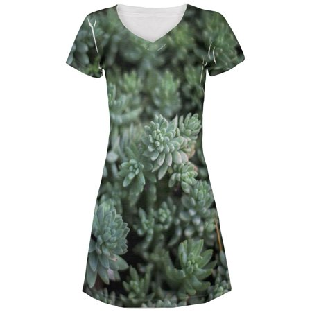 Halloween Succulent Bush Costume Nature Plants All Over Juniors Beach Cover-Up Dress](Bush Halloween)