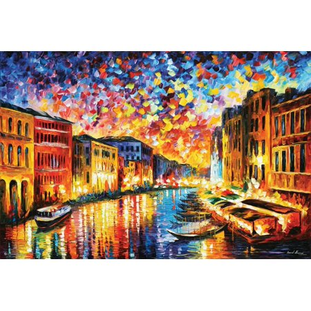Leonid Afremov - Venice Grand Canal Poster By Leonid Afremov - 36x24