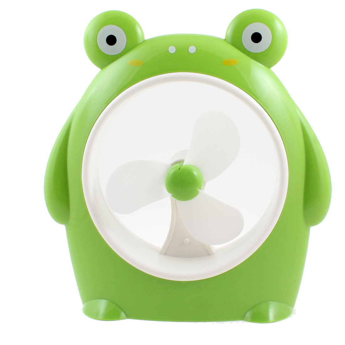 Portable Plastic Cartoon Pig Designed USB Battery Powered Personal  Fan for PC Laptop Green White