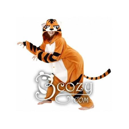 Tiger Pajama Costume (Adult Size Cushzilla Tiger Z Costume or Cushy Pajama)