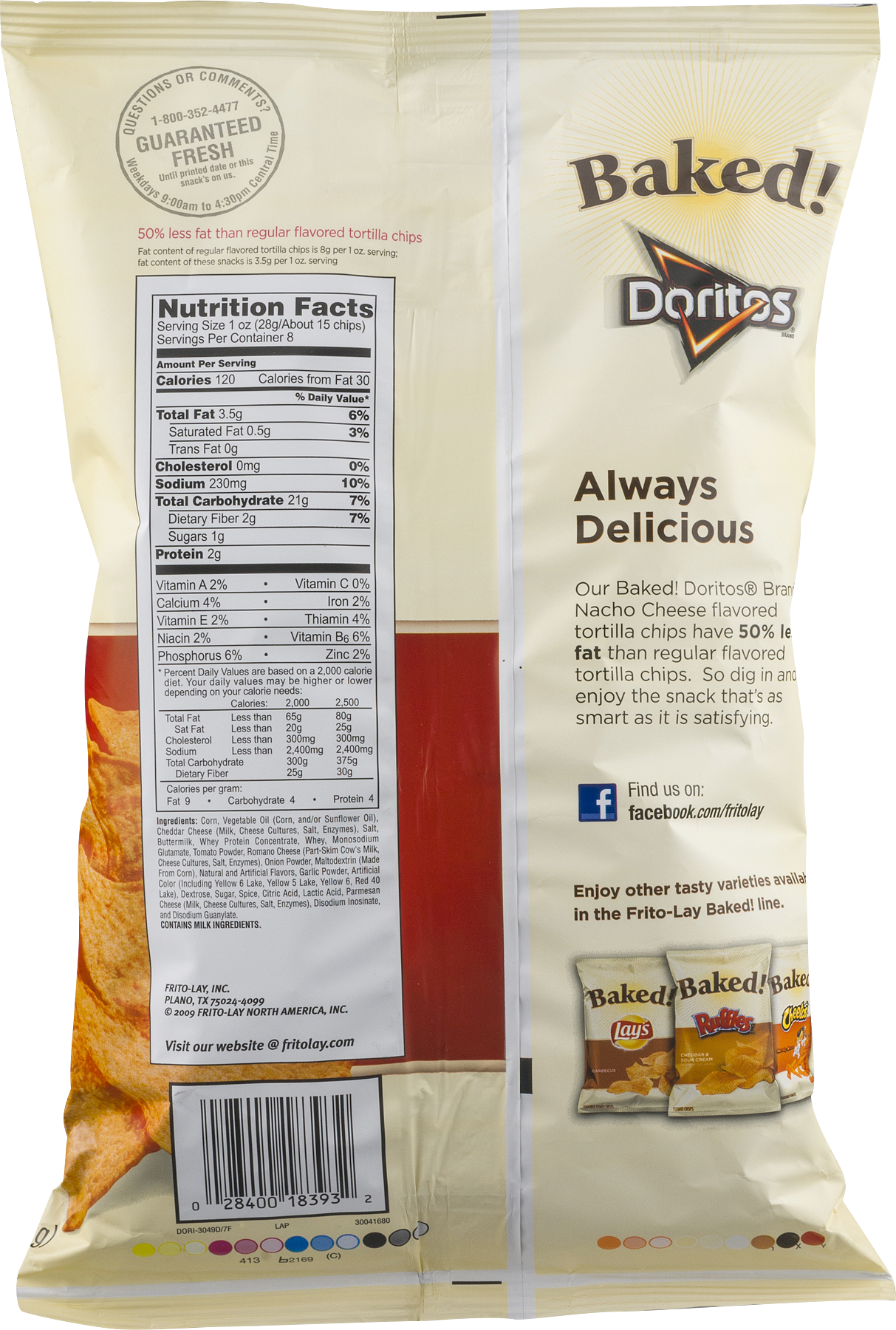 doritos nacho cheese nutrition facts - swiss cheeses