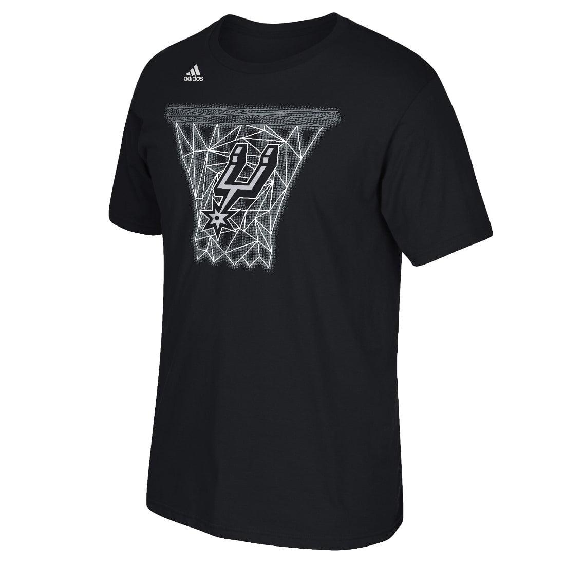 "San Antonio Spurs Adidas NBA ""Net Web"" Men's Short Sleeve T-Shirt"