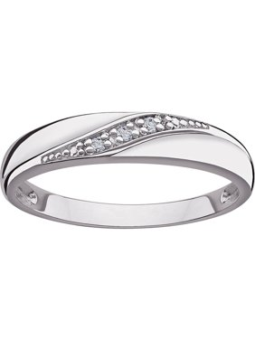 Sterling Silver Women's Diamond Accent Wedding Band