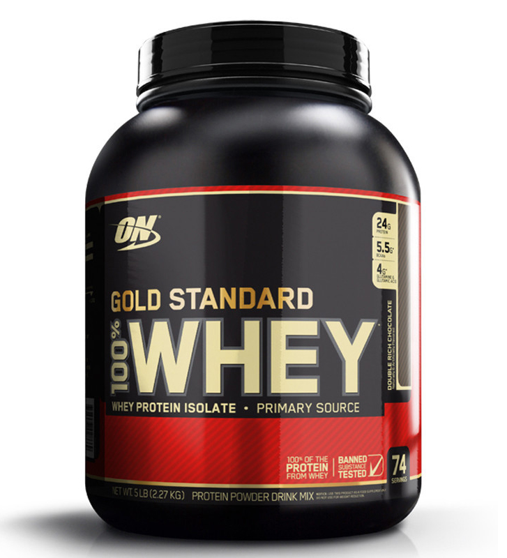 OPTIMUM NUTRITION GOLD STANDARD 100% WHEY (5 LB) Protein Isolates Powder 5lbs- Double Chocolate