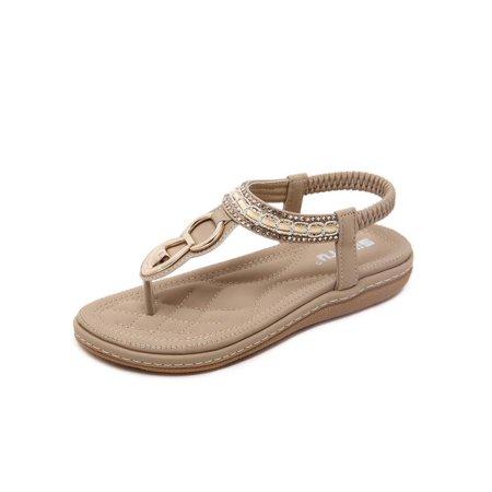 c1975f0b077c Meigar - Meigar Women Summer Bohemia Slippers Flip Flops Lady Flat Sandals  Beach Thong Shoes - Walmart.com