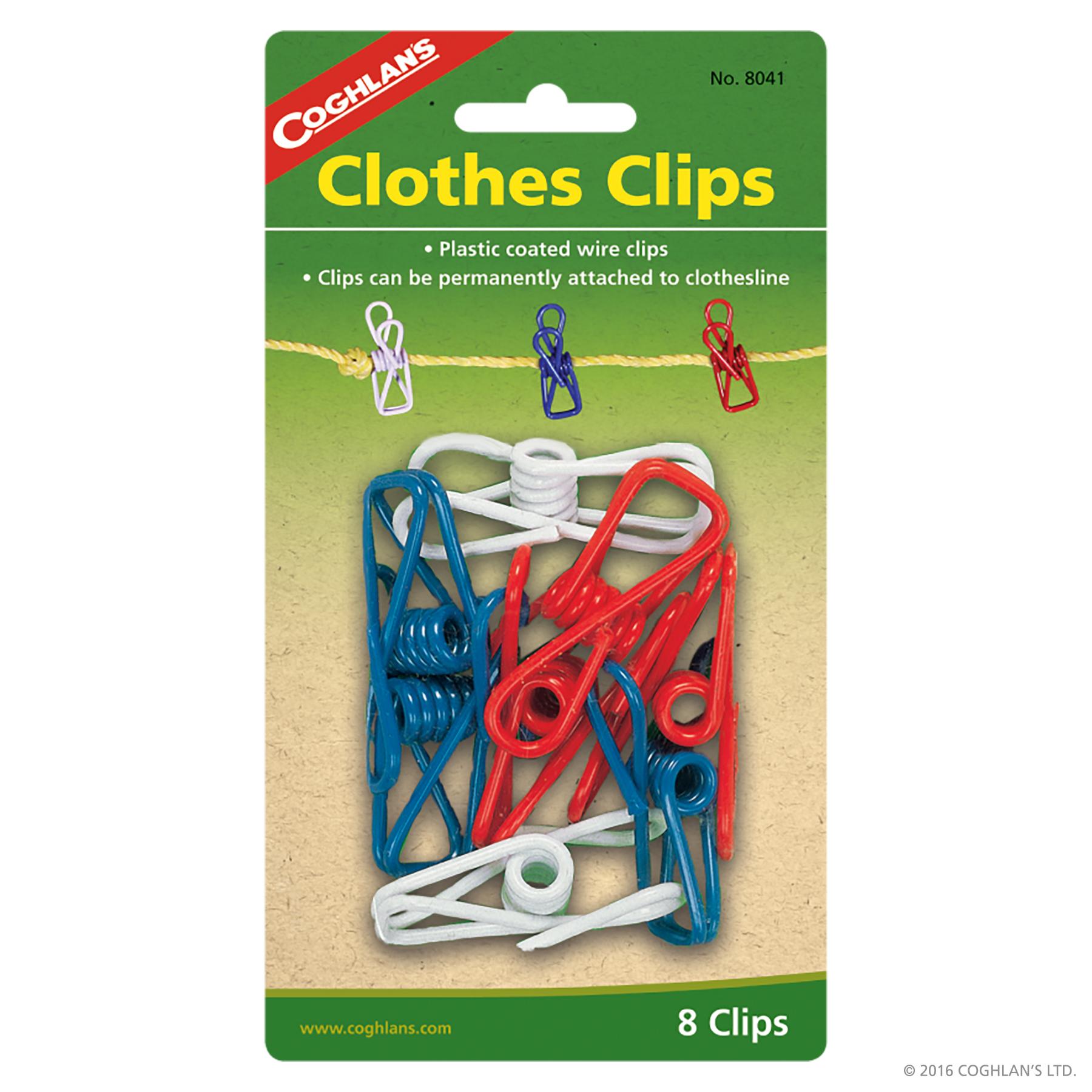 Coghlans Clothes Clips - Set of 8