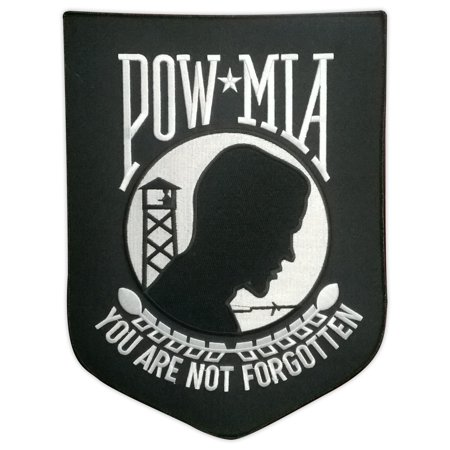 Motorcycle Biker Jacket Embroidered Back Patch - POW MIA You Are Not Forgotten - 9