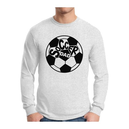 Awkward Styles Men's Soccer Dad Graphic Long Sleeve T-shirt Tops Father's Day Gift Idea Soccer Day Sports Dad