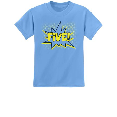 5 Year Old Twin Halloween Costumes (FIVE! Fifth Birthday - 5 Years Old Gift Idea Superhero Youth Kids T-Shirt X-Small California)