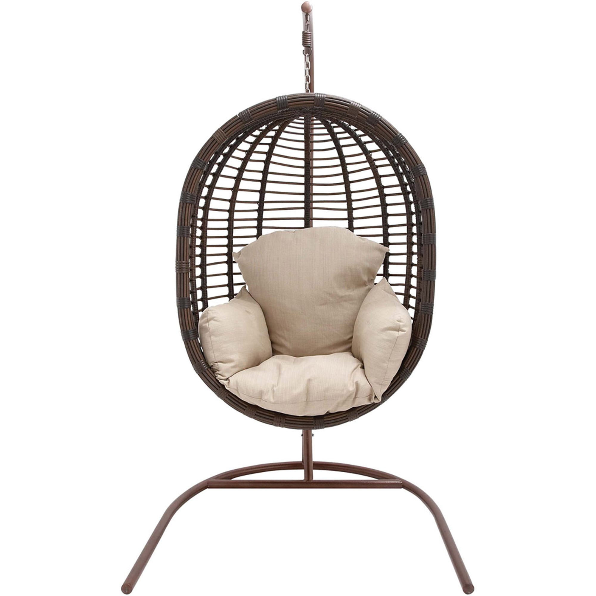 Ordinaire Hanover Outdoor Furniture Rattan Wicker Pod Swing Chair With Full Cream  Cushion   Walmart.com