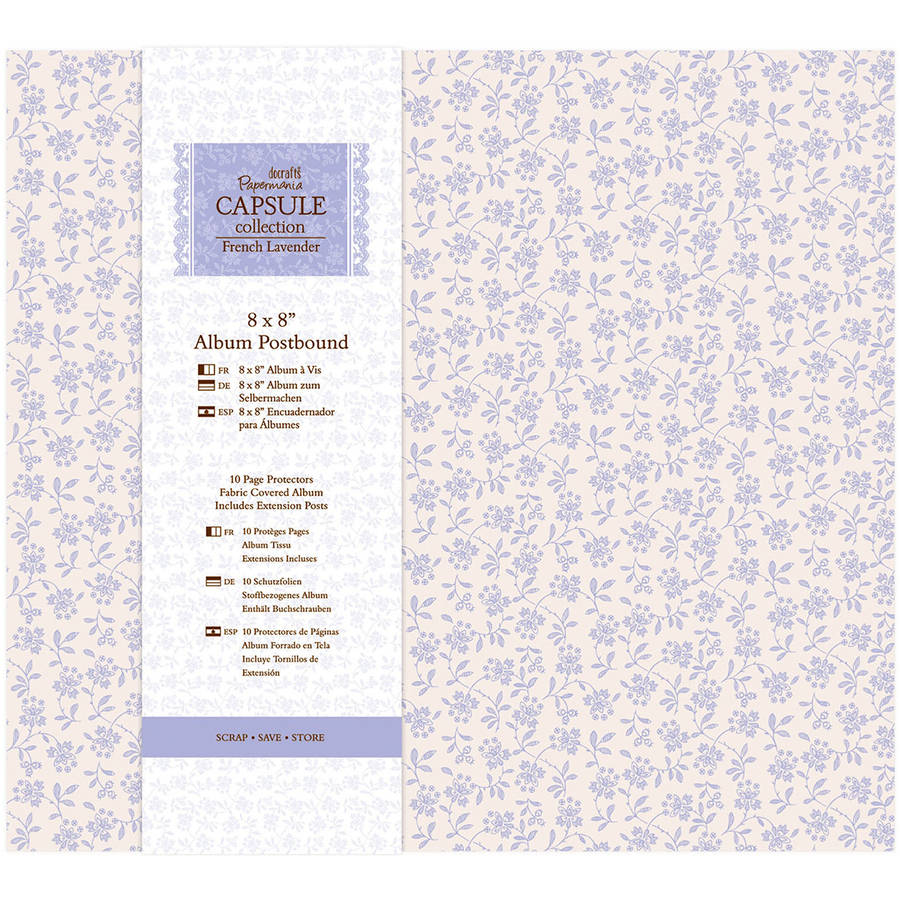 "Papermania French Lavender Postbound Album, 8"" x 8"""