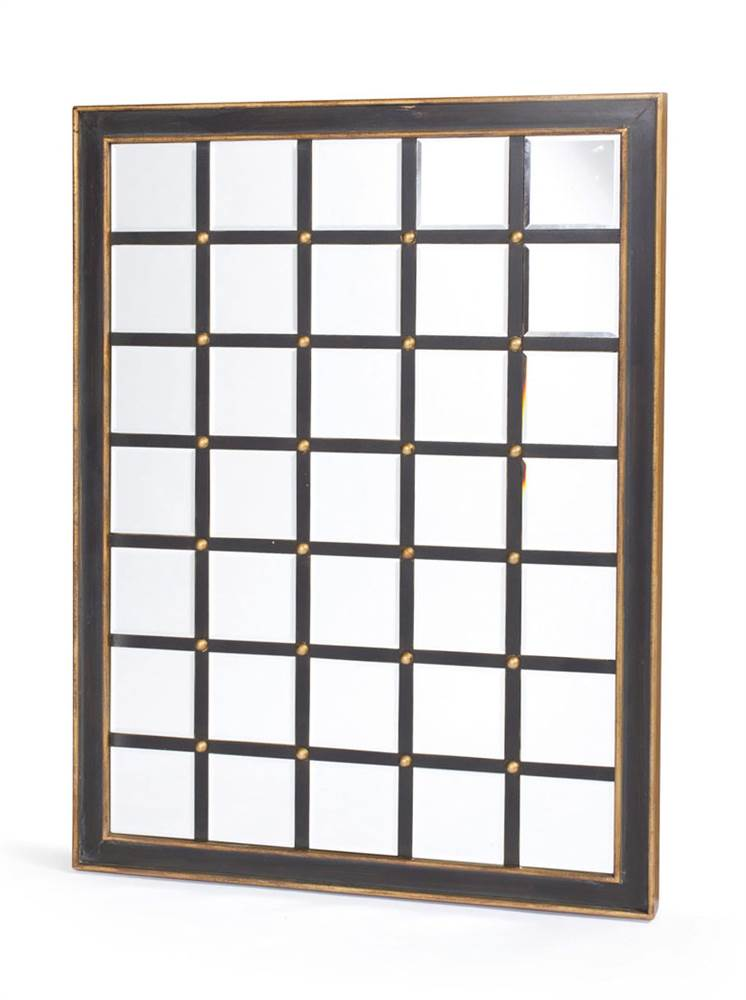 Grid Mirror with Gold Accents by Go Home